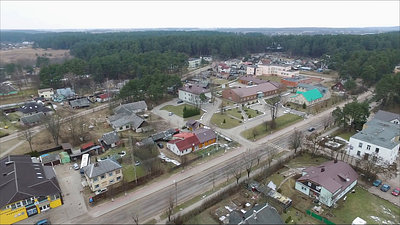 Panorama Over Small Town With Rotation 8
