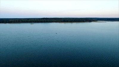 Flight Over The Lake With Rotation, Sundown