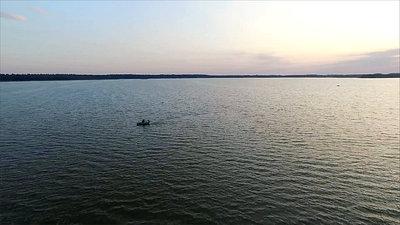 Flight Over The Lake, Sundown, Boat 1