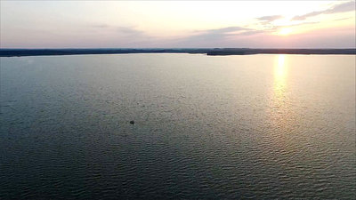 Flight Over The Lake, Sundown, Boat 2