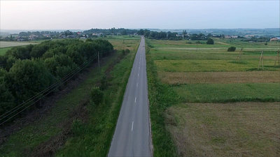 Flying Over Country Road, Car Passing By 3