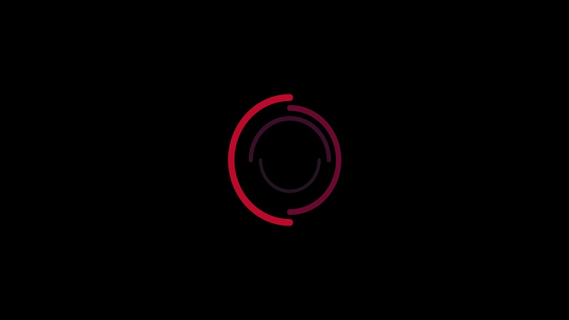 4K Center Circle Motion Flat Element 2