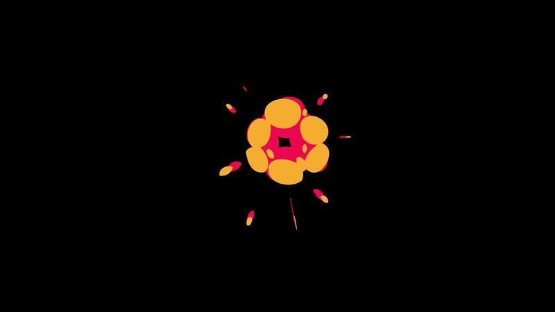 4K Flat Motion Graphics Explosion Element