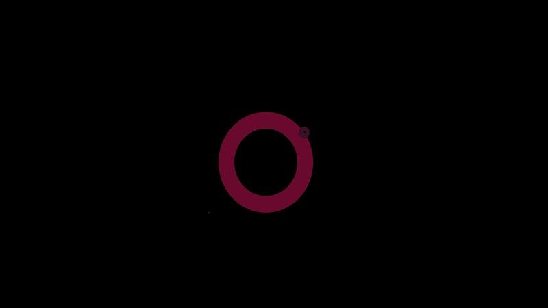 4K Multiple Circles Motion Flat Element 1