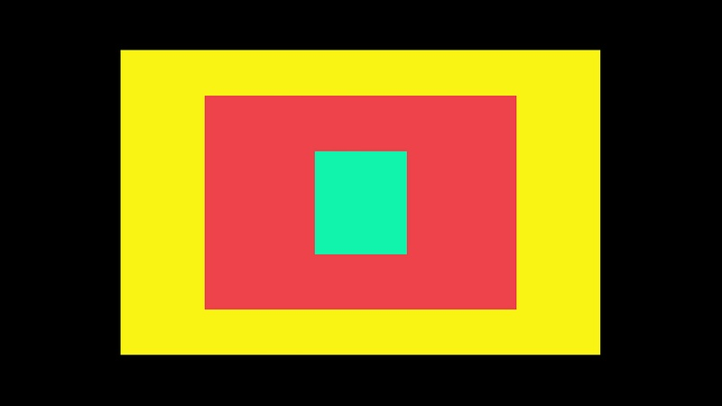 4K Rectangle Transition From Center