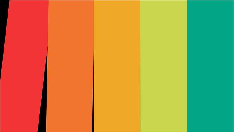 4K Vertical And Horizontla Stripes Flat Transition