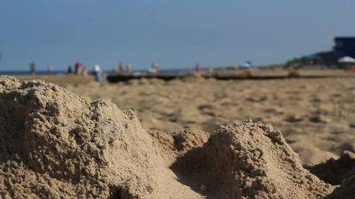 Close Shot Panorama Of The Beach