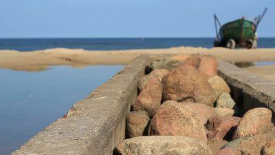 Sea Stones And Boat