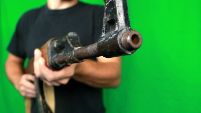 Man Shooting With Ak47 Left Side