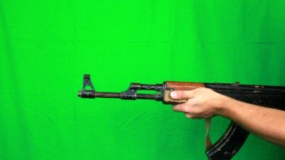 Man Turns Around And Shoots With Ak47