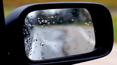 Wet Car Side Mirror