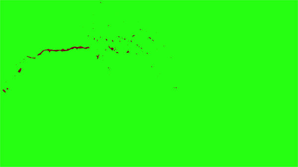 Hd Blood Burst Motion Blur Green Screen 17