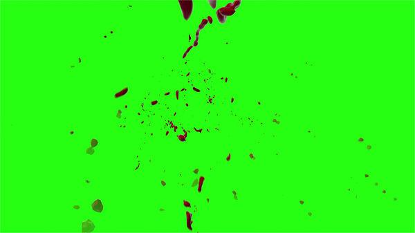 Hd Blood Burst Motion Blur Green Screen 126