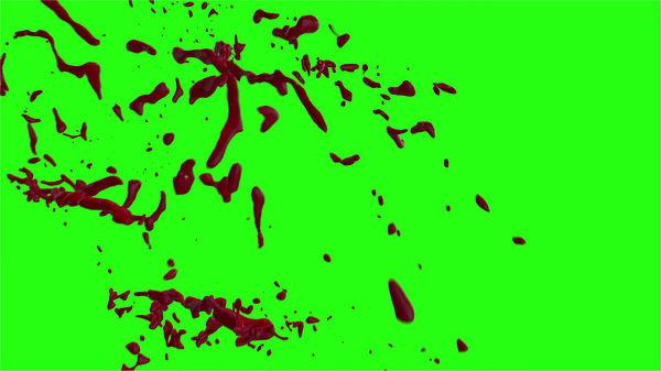 Hd Blood Burst Motion Blur Green Screen 157