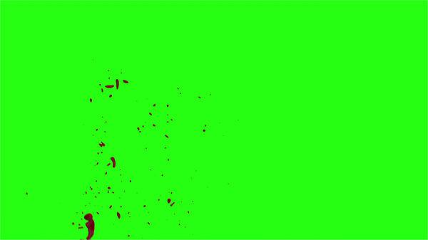 Hd Blood Burst Motion Blur Green Screen 161
