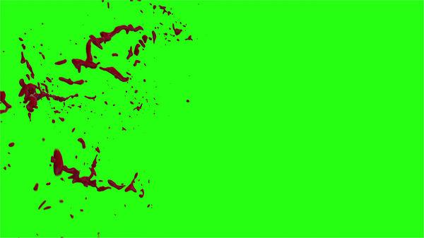 Hd Blood Burst Motion Blur Green Screen 165