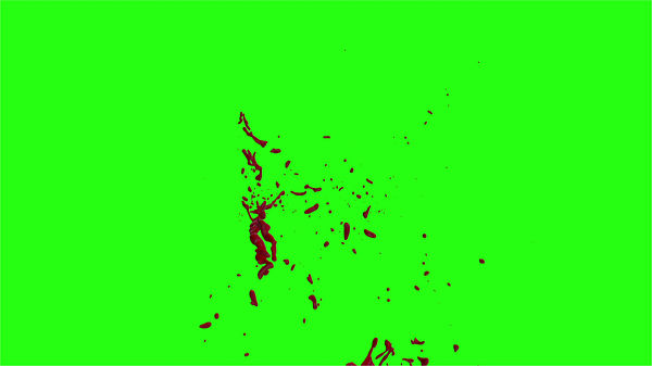 Hd Blood Burst Motion Blur Green Screen 168