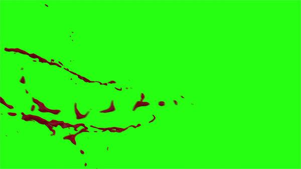 Hd Blood Burst Motion Blur Green Screen 176