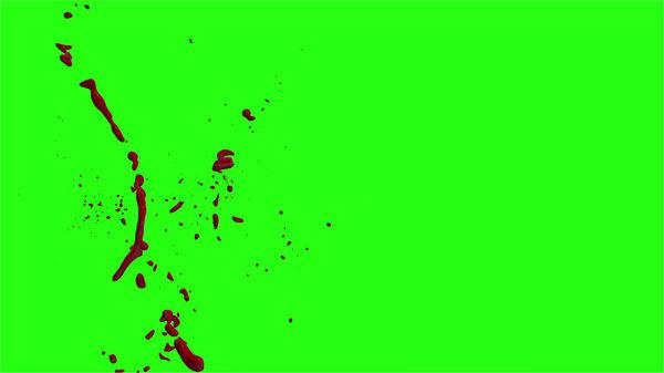 Hd Blood Burst Motion Blur Green Screen 182