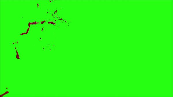 Hd Blood Burst Motion Blur Green Screen 185