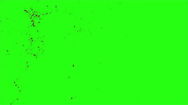 Hd Blood Burst Motion Blur Green Screen 187