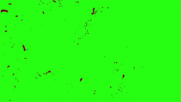 Hd Blood Burst Motion Blur Green Screen 194