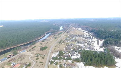 Flight Over Small Town 7