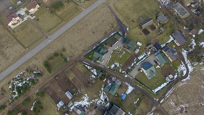 Vertical Flight Over Small Town 2