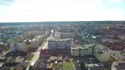 Flight Over Small Town Near River 3