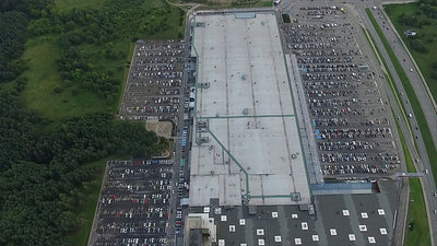 Aerial View Over Supermarket 1