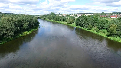 Flight Under The Bridge Over River 3