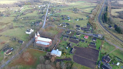Flight Over The Country Near Church 1