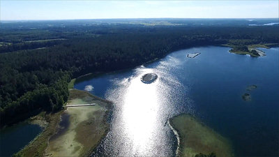 Flight Over The Lake Near Forest 17