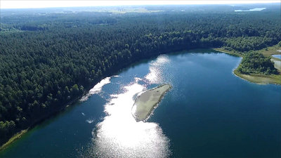 Flight Over The Lake Near Forest 21