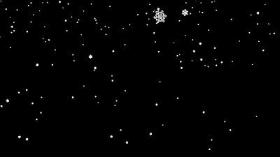 Beautiful Snowflakes Falling