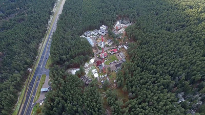 Flight Around Over The Highway, Tv Tower And Forest 1