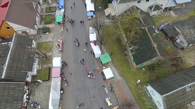 Flight Over Small Town, Fair On Street 7