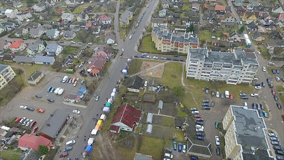 Flight Over Small Town, Fair On Street 9