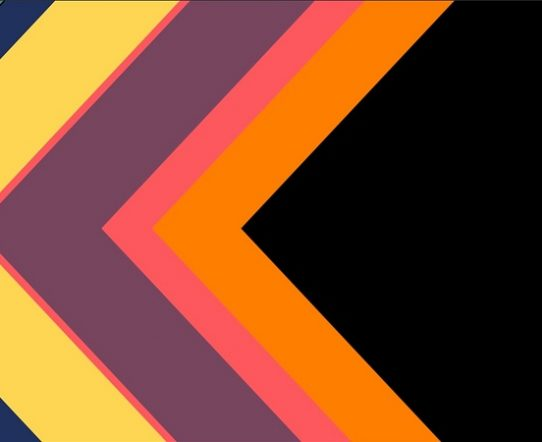 4K Super Flat Arrow Stripes Transition From Right