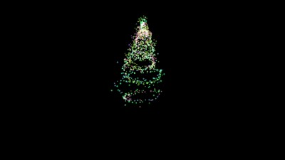 Appearing Colored Abstract Christmas Tree