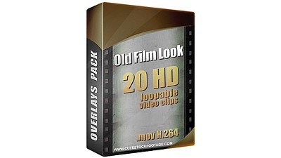 Old Film Look Overlays Pack (20 in 1)