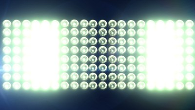 Horizontal Flashing Floodlights With Lens Flare
