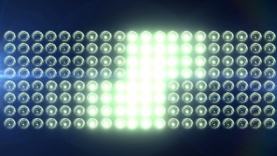 Horizontal Flashing Floodlights With Lens Flare 2