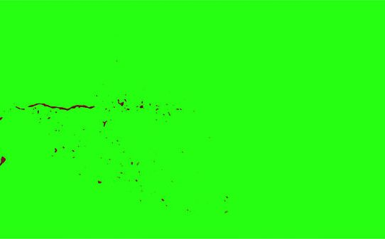 Hd Blood Burst Motion Blur Green Screen 39