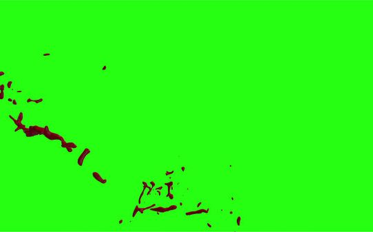 Hd Blood Burst Motion Blur Green Screen 74
