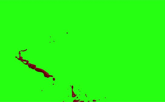 Hd Blood Burst Motion Blur Green Screen 75