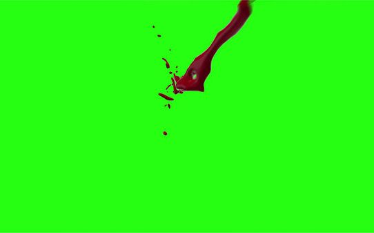 Hd Blood Burst Motion Blur Green Screen 101