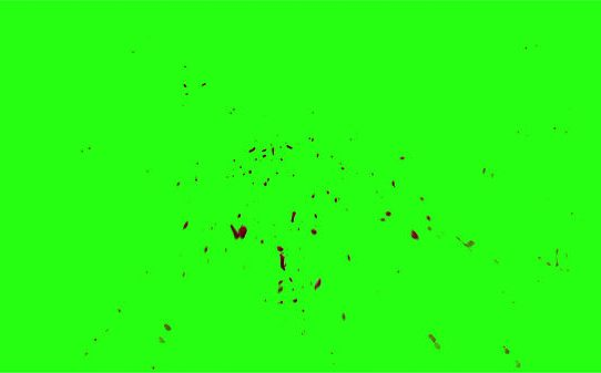Hd Blood Burst Motion Blur Green Screen 102