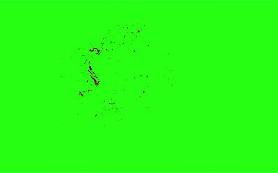 Hd Blood Burst Motion Blur Green Screen 109