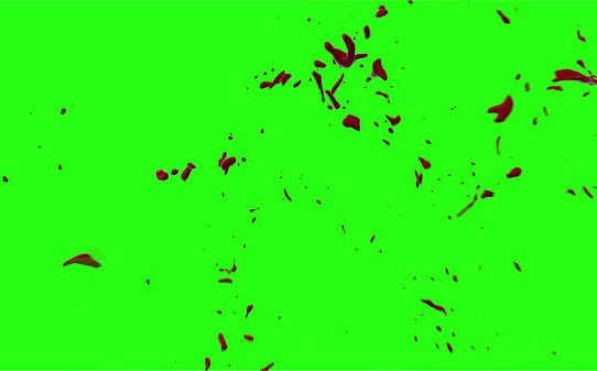 Hd Blood Burst Motion Blur Green Screen 136